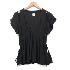 NWT O'Neill Black Cold Shoulder Blouse - Size S